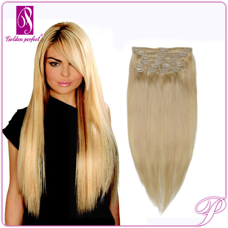 Top Quality 100% Remy Human Clip In Hair Extensions For African American
