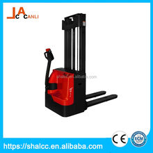 Big sale bottom price electric long fork hand pallet stacker