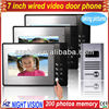 Wholesales 7 inches wired colour video door phone 1 to 3 with photos memory HZ-802MB13