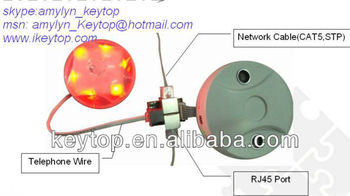Keytop ultrasonic sensor(model:KEY-TS06.1) for every single parking space
