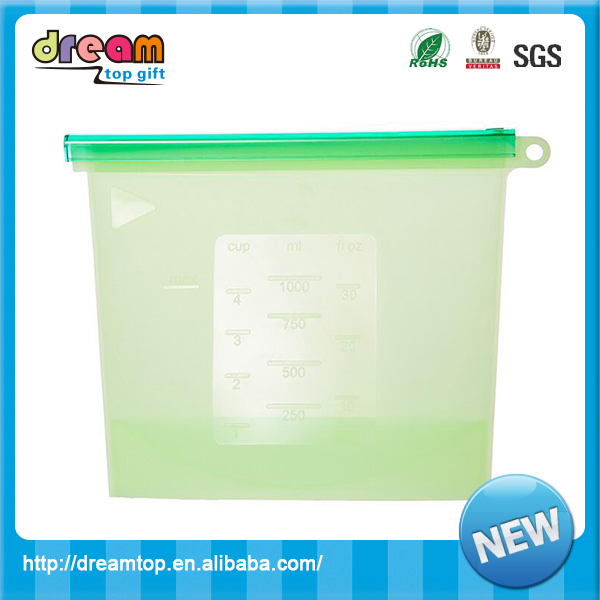 Top quatily silicone rubber food keep fresh vacuum storage bag