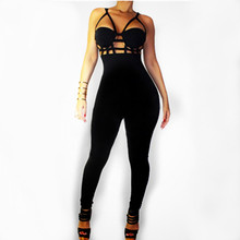 ZH0857H New arrival women sexy cut off jumpsuit with long pants