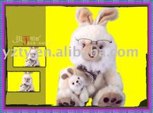 Factory supply plush rabbit family toy