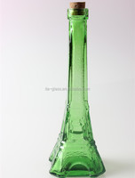 180ml china supplier berverage,perfume ,liquor,wine drinking latest design eiffel tower wholesale unique shaped glass bottles