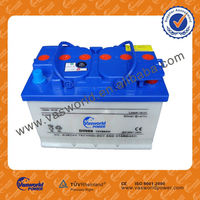 12V66AH dry charged car battery /auto batteries