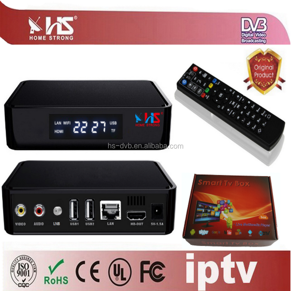 Home Strong IPTV Hybrid DVBS2 Set-top boxes 4K UHD satelite receiver for uk market
