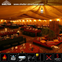 Luxury Yellow Decorated Wedding- Tents 2000 Seater