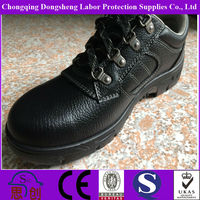 PU injection Genuine Leather Steel toe cap safety shoes for Chef