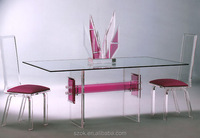 china supply exotic beautiful acrylic crystal dining table and chairs