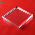 Clear square acrylic solid display block