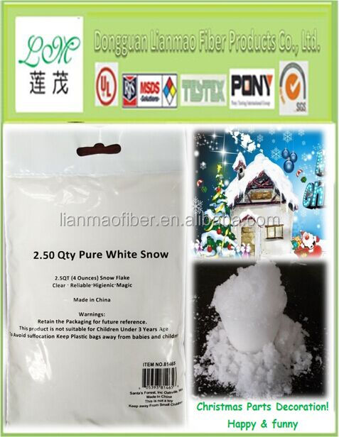 Hot sale best quality fake white christmas Magic Snow Powder/artificial snow