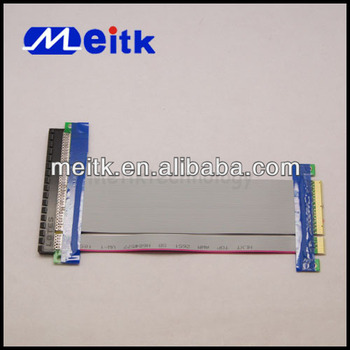 PCI-E 8X To 16X Pci Express Riser Card Extender Ribbon Flex Cable