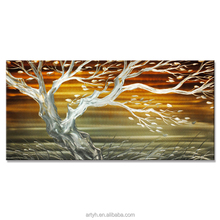 Metal wall art painting of Tree designs for Home decoration