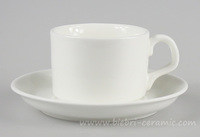 Wholesale Antique Modern Design Plain White Fine Porcelain Coffee And Tea Cups And Saucers Sets For Hotel And Restaurant