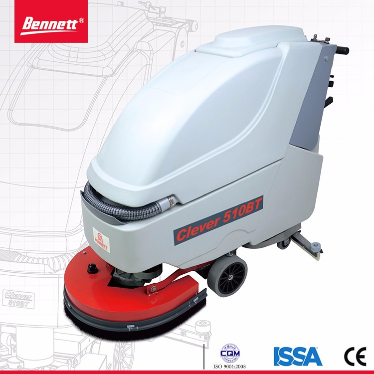 cleaning machine for supermarket,Walk Behind Floor Scrubber with V-shape Squeegee
