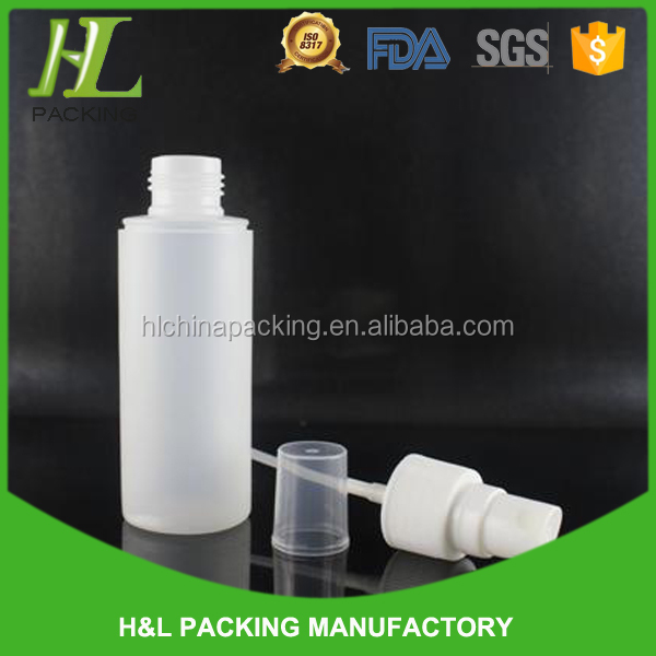 60ml clear plastic pump pressure spray bottle with cover cap,PET plastic cosmetic bottle wholesale for USA