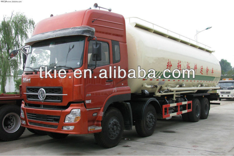 Big capacity 40000L Dongfeng 8x4 bulk feed discharge truck
