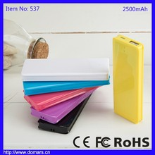 Shenzhen Polymer Lithium Battery Smartphone 2500mAh Power Bank