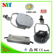 Aluminum housing 347v outdoor parking lot lighting led retrofit 130lm/w with MW