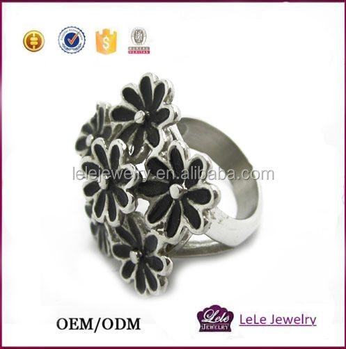 spikes stainless steel ring stainless steel ring in flower ring