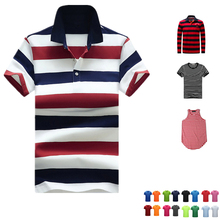 RB7/1 Yarn Dye Striped Custom Design Garment Mens Polo Tshirts Polo Shirts Wholesale