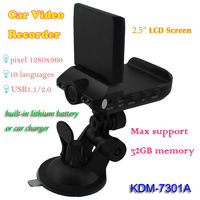 2013 New hd portable car dvr with support 10 Languages