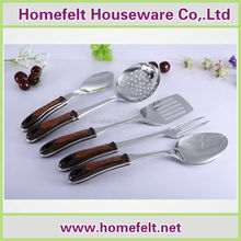 Kitchen utensils stainless steel kitchenware six pieces set spatula spoon cookware set