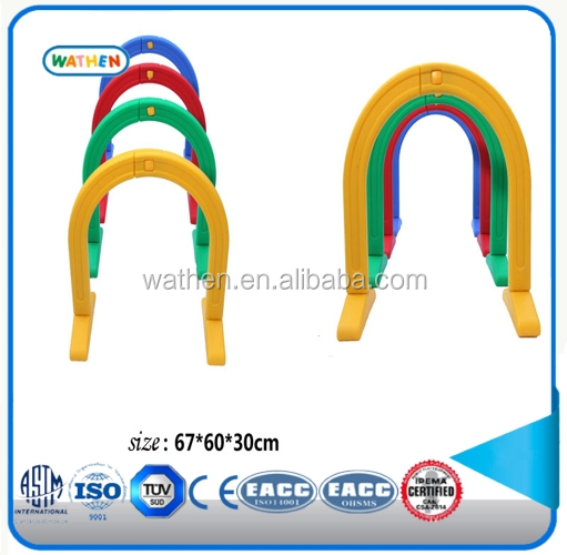 Colorful plastic kids tunnel toy