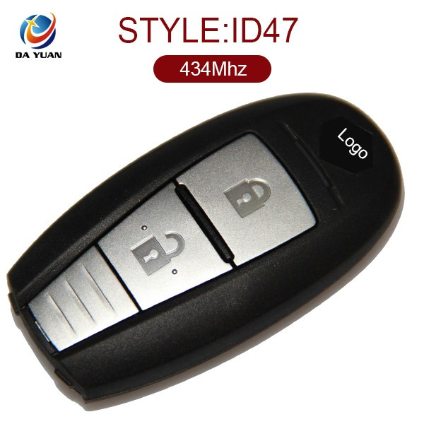 2 button auto key remote for Suzuki 434Mhz keyless enter ID47chip AK048004