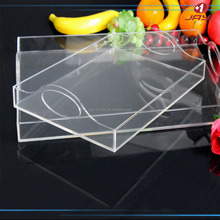 Custom Acrylic Plastic Serving Fruit Tray With Handle