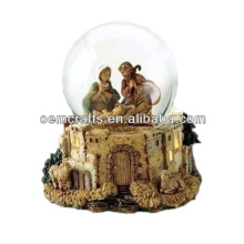 Fancy custom resin religious Christ nativity snow globe