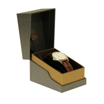 Custom logo branded paper cardboard watch box