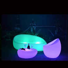 modern sofa <strong>furniture</strong> / night club plastic sofa set/ Led Glowing Sofa