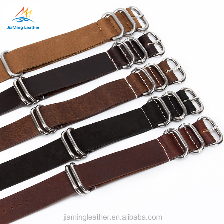 China High End Military Leather Long Watch bands ZULU