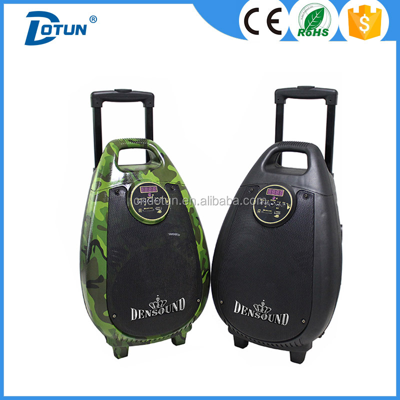 High quality 8 inch outdoor trolley battery speaker with usb/sd/fm/bluetooth