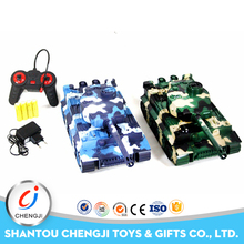 Top quality military plastic toy rc battle tanks with sound and light