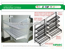 metal end cap with wire mesh basket