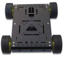 Metal Tank Robot Smart Car Chassis Black