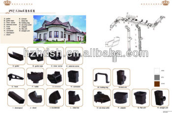 PVC Rain Gutter and fittings