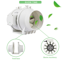 4 6 8 inch small silencer greenhouse mixed flow ventilation reversible 1000cfm exhaust dc high temperature inline duct <strong>fan</strong>