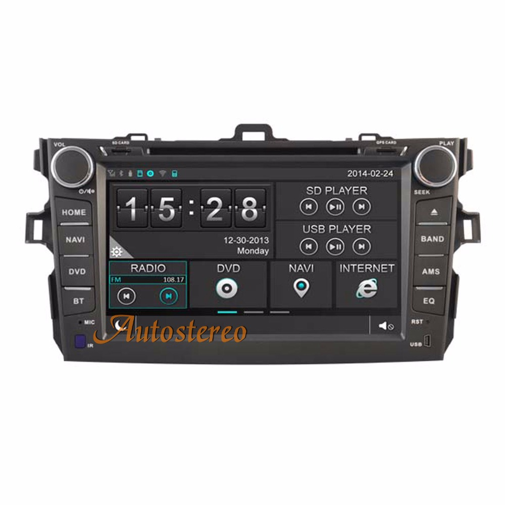 Car Headunit Radio GPS Navigation DVD Player SATNAV For TOYOTA COROLLA 2007-2011 Car GPS car stereo satnav