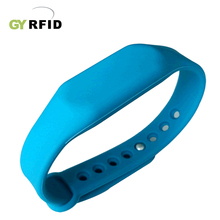 WRS17 Waterptoof 1K Compatible Nfc Silicone Wristband For Electronic Door Locks