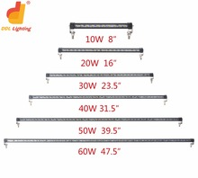 Wholesale 60W 47.5 inch mining led work light bar , slim led work driving lights for all cars