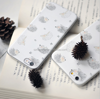 Newstar TPU phone Case for iphone 6 4.7 5.5 with ring stand holder, hedgehog style