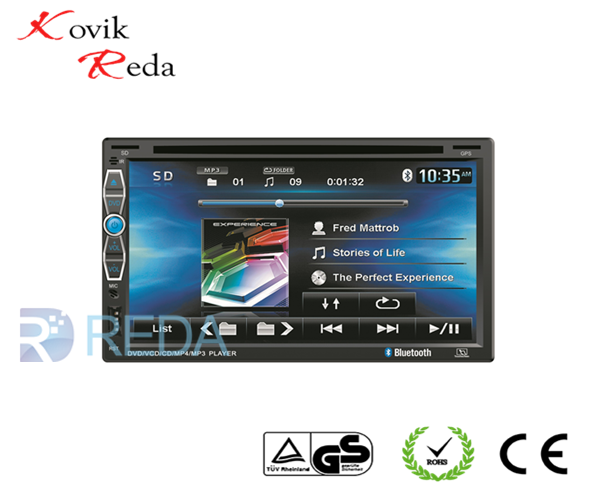 JK6907 2din 6.95 Touch HD Screen Car DVD/MP5 Player with Built-in Wifi &GPS Navigation