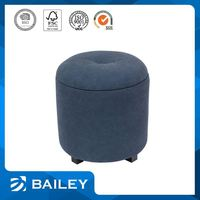 Hot Sales Simple Style Comfortable Storage Inflatable Round Ottoman Footstool
