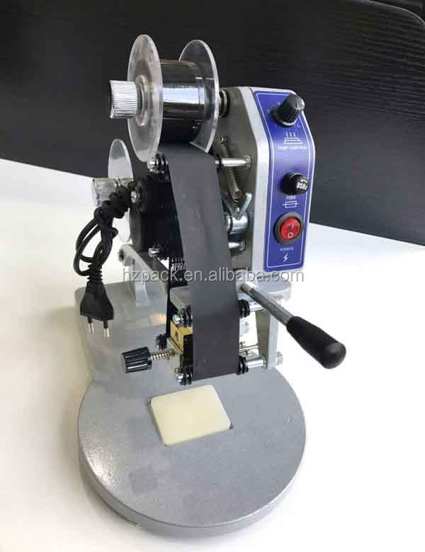 Ex-factory price color ribbon hot date printer, hand pressure coding machine
