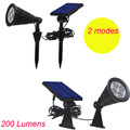 2 Modes [Upgrated 200 Lumen Output]New 4 LED Solar spot garden lights Outdoor Wall Light