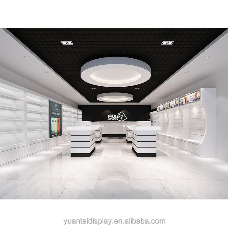 Mobile phone shop furniture for shop with Led light