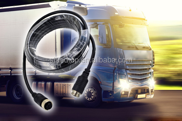 4 pin 5 meter camera cable for vehicle reversing camera system